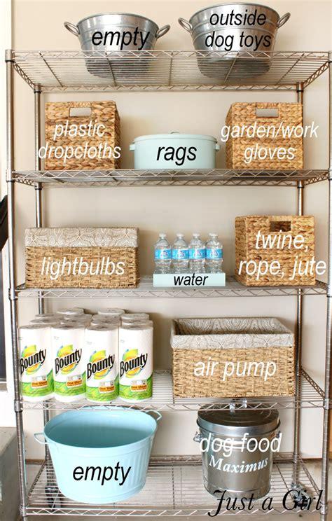 Organized Garage Shelves {lowes Creator}  Just A Girl Blog