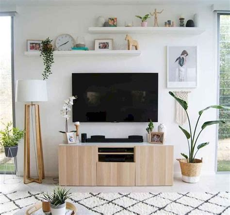 9 brilliant ways to decorate around a tv. 80 Amazing Living Room TV Wall Decor Ideas And Remodel (31   Wall decor living room, Ikea living ...