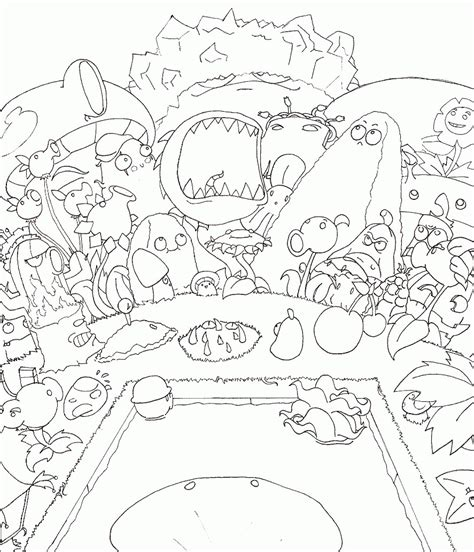 plants  zombies garden warfare  coloring pages