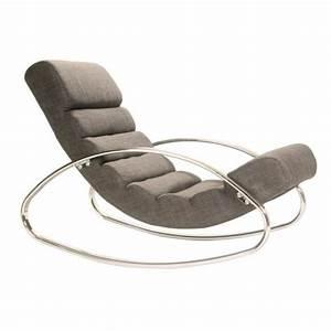 Fauteuil Relax Design Contemporain : fauteuil relax design miami tissu gris achat vente fauteuil tissu acier chrom cdiscount ~ Teatrodelosmanantiales.com Idées de Décoration