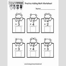 Adding For Kindergarten Worksheets Worksheet Mogenk Paper Works
