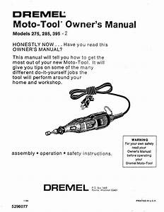 Dremel Drill 395 User Guide