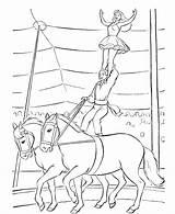 Circus Coloring Printable Sheets Animals sketch template