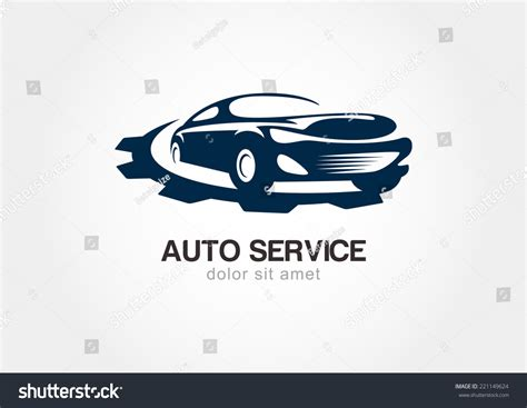 illustration abstract sport car gears cogs stock vector 221149624 shutterstock
