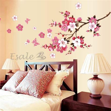 autocollant chambre fille sticker autocollant mural fleurs déco mur maison chambre