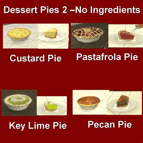 customisation cuisine mod the sims custom food dessert pies 2