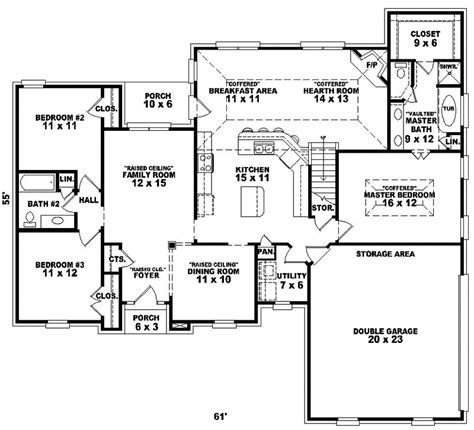 traditional floor plans fermelia traditional home plan 087d 0200 house plans and