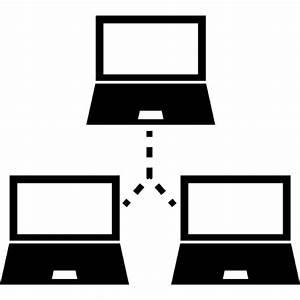 Three computers educational network symbol Icons | Free ...
