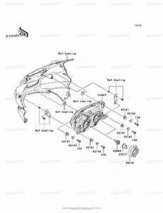 Kawasaki Motorcycle 2010 Oem Parts Diagram For Headlight S