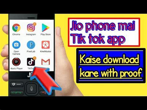 jiophone mai tik tok app kaise install kre real by techabhaygupta