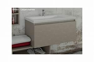 Meuble De Salle De Bain Suspendu : meuble salle de bain tiroir suspendu avec plan lavabo ~ Edinachiropracticcenter.com Idées de Décoration