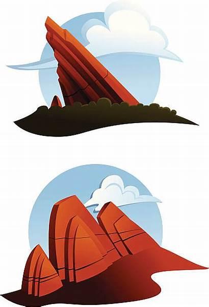 Rock Formations Rocks Clip Illustrations Vector Illustration