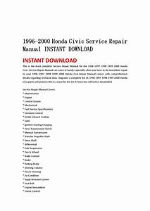1996 2000 Honda Civic Service Repair Manual Instant