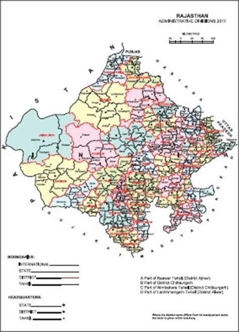 rajasthan tahsil map rajasthan district map census