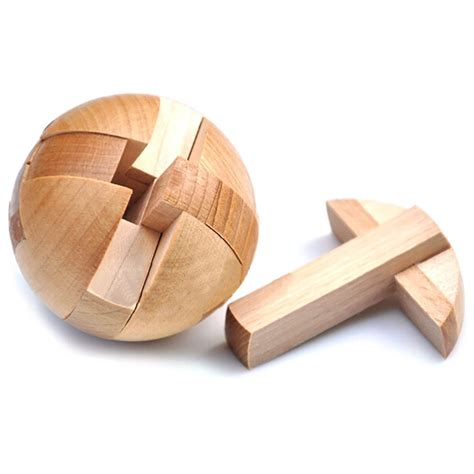 Wooden Puzzle Magic Ball Brain Teasers Toy Intelligence