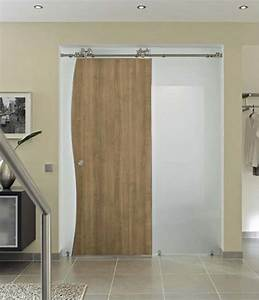 porte en bois et verre With porte de douche coulissante avec meuble bois brut salle de bain