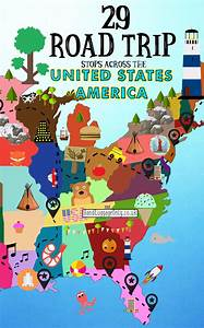 Blog Road Trip Usa : the ultimate road trip map of things to do in the usa hand luggage only travel food ~ Medecine-chirurgie-esthetiques.com Avis de Voitures