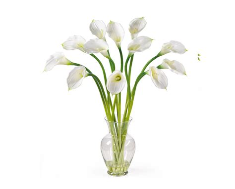 white calla flower artificial calla lilies white 12 silk flowers