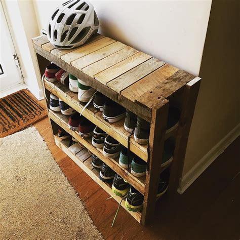 diy shoe rack pallet projects diy