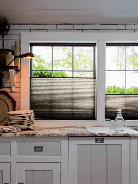kitchen shades ideas creative kitchen window treatments hgtv pictures ideas