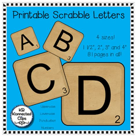 Printable Scrabble Tiles For Word Work by Kb Konnected Scrabble Letters And Scrabble Word