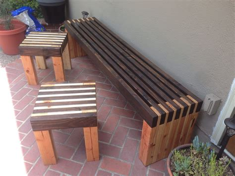bench  side tables    home projects