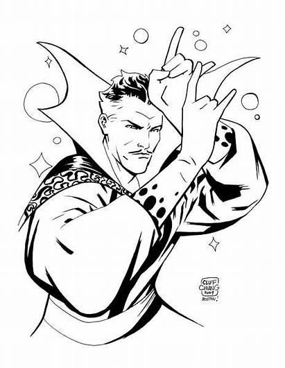 Strange Dr Doctor Marvel Comic Coloring Artists
