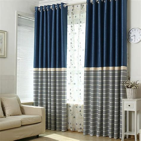 navy blue blackout curtains brief navy blue blackout living room ready made striped