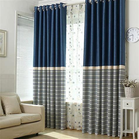 Nice Blue Living Room Curtains Design : Nice Blue Living