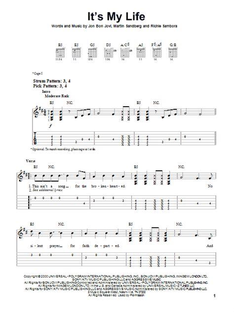 It's My Life By Bon Jovi  Easy Guitar Tab  Guitar Instructor