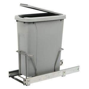 Cabinet Trash Can Home Depot by Real Solutions For Real 17 In H X 8 In W X 20 In D