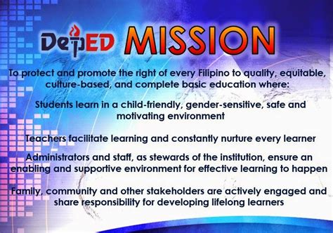 depeds vision mission  core values ambray