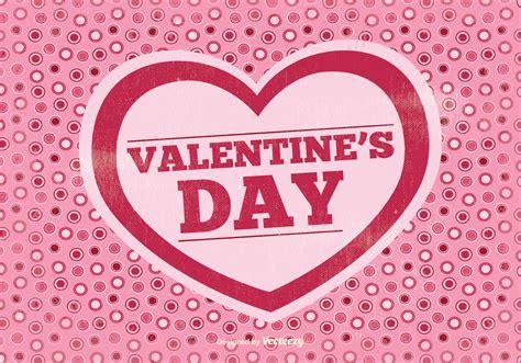 retro valentines day vector illustration
