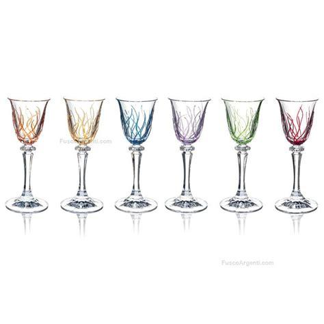 bicchieri fade bicchieri liquore rainbow fade 6 pezzi ml 50 bicchieri