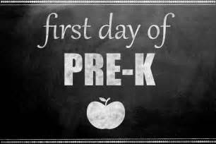 First Day of Pre-Kindergarten Sign Printable
