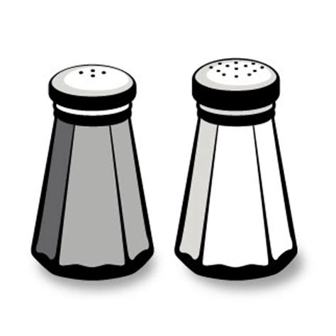 salt and pepper clipart black and white salt and pepper clipart