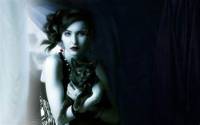 Wallpapers Woman Witches Witch Cat Cats Artistic