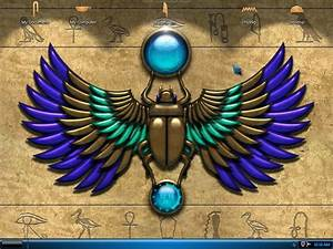 Stone Scarab With Wings By