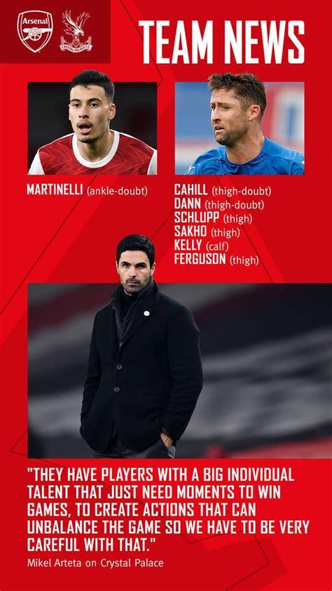 Arsenal v Crystal Palace: stats, quotes, graphics | Match ...