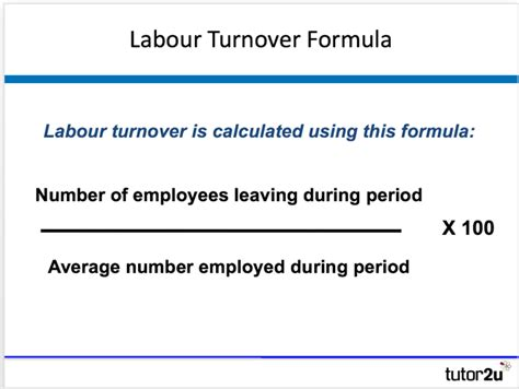 Accounts Receivable Turnover Business Forms Labour Turnover Tutor2u Business