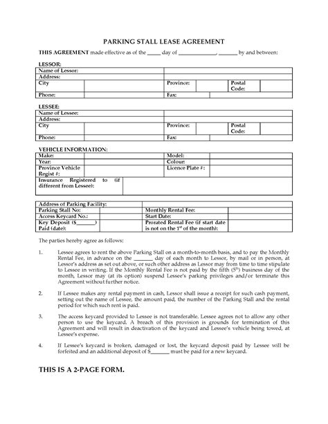Boat Trailer Registration Cost Nz by Alberta Parking Stall Lease Agreement Forms And