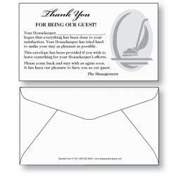 hotel  motel envelopes sheppard envelope