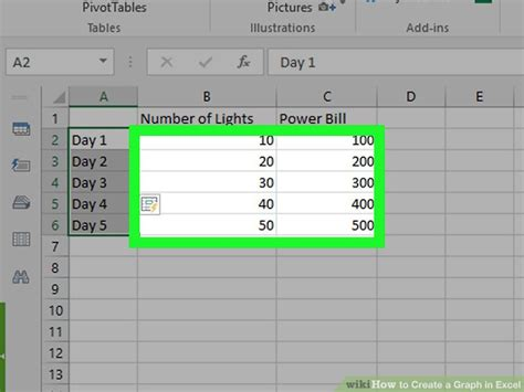 create  graph  excel   sample graphs