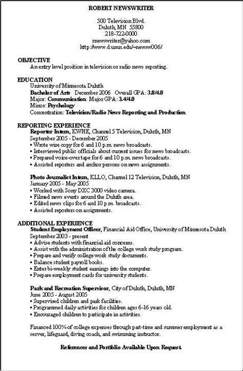 Exles Of A Basic Resume by Hair Wallpapper Basic Resume Exles