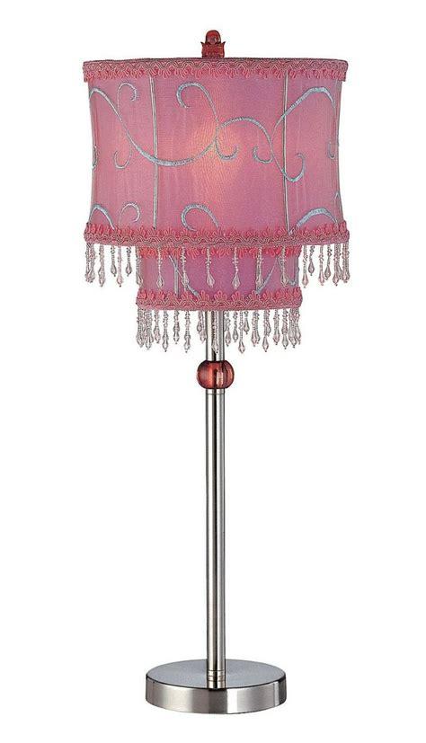 amazon com lite source ls 20295ps pink sandy table l