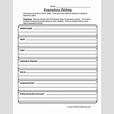 Writing Organizer Worksheets  Have Fun Teaching