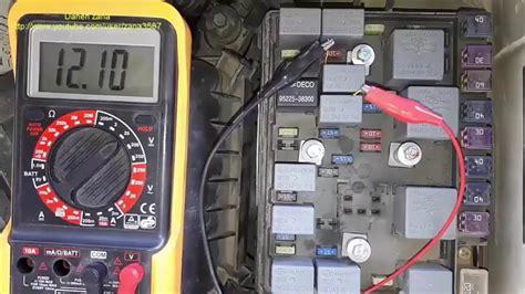 Fuel Pump Test Fuse Relay Kia Sportage