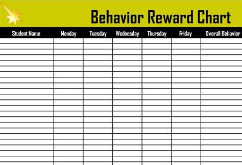 behavior reward chart reward chart  kids