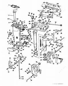 Evinrude 1973 18 - 18304a  Exhaust Housing