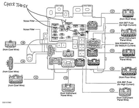 solved    lexus   fuse box fixya
